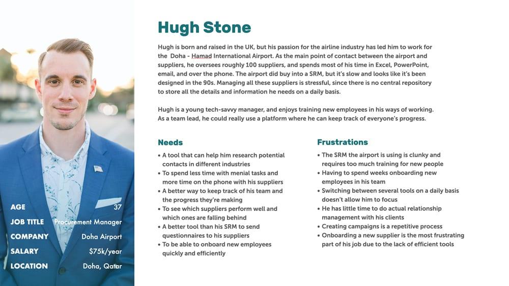 Hugh Stone, our persona